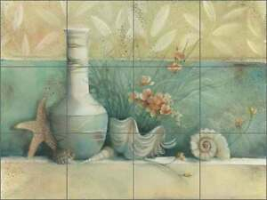 Ceramic Tile Mural Backsplash Montillio Seashells Sea