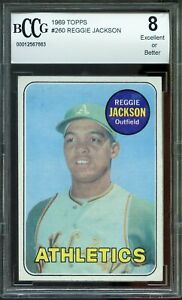 1969-Topps-260-Reggie-Jackson-Rookie-Card-Centered-BGS-BCCG-8-Excellent