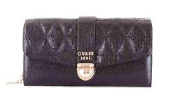 GUESS TABBI Large Clutch Organizer Schwarz, Damen-Geldbörse Brieftasche Wallet