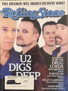 Rolling Stone Magazine U2 Digs Deep March 19  2009 Issue 1074 Bono