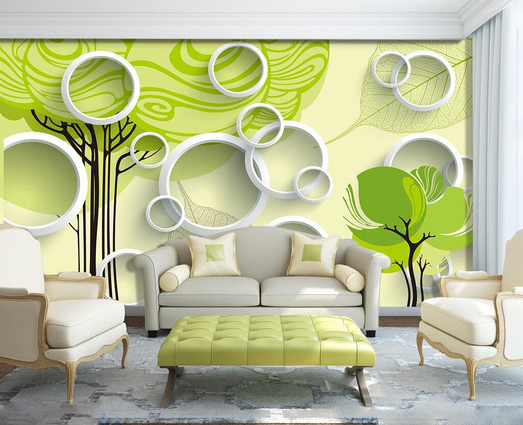 3D Green Tree Ring 754 Wall Paper Murals Wall Print Wall Wallpaper Mural AU Kyra