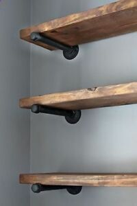 INDUSTRIAL-VINTAGE-SHELF-BRACKETS-MADE-FROM-PIPE-FITTINGS-VARIOUS-STYLES