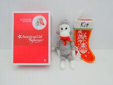 "NEW AMERICAN GIRL Kit/'s Christmas Stocking With Sock Monkey For 18/"" Dolls NIB"