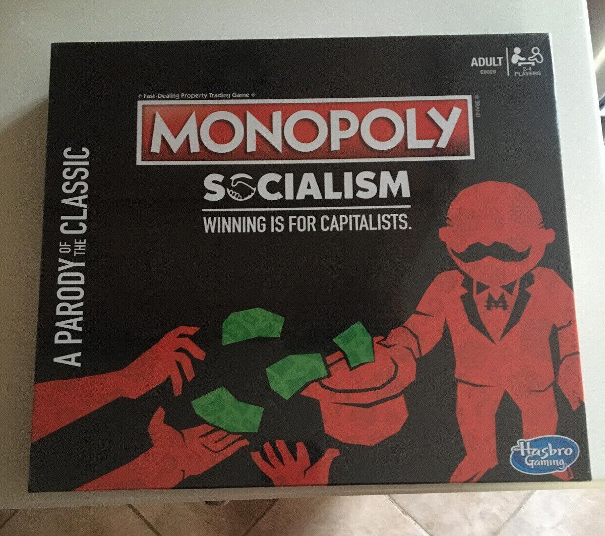 Jogo De Tabuleiro Monopoly Socialismo paródia capitalists Adulto Festa divertido Jogo Novo Lacrado