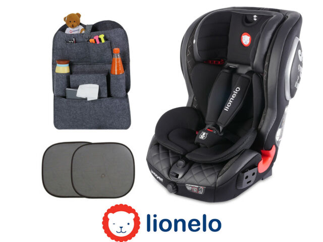 Car Seat Lionelo Jasper Black Isofix Top Tether 9 36 Kg 2x Sun Cover