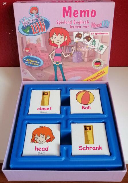 Memo Spiel spielend Englisch lernen mit Hexe Lilli Das Original zur TV Serie