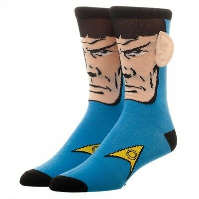 Star Trek Spock 360 Crew Socks Character Collection Package Adult Mens One Size