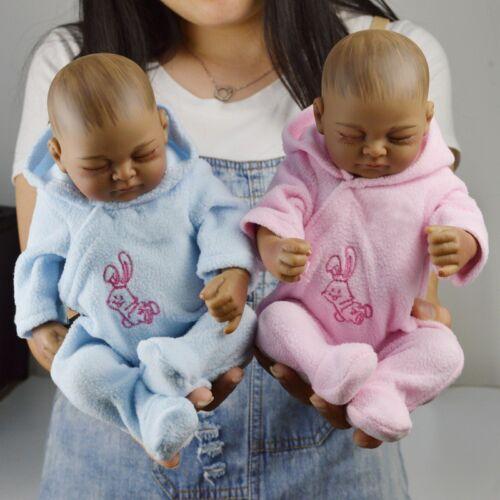 "2X Baby Doll Reborn 11/"" Handmade Lifelike Silicone Newborn Realistic Full Body"