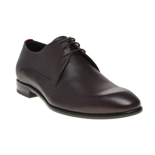 Neu HERREN HUGO brown APPEAL_DERB_IT LEDER SCHUHE