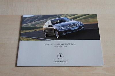 Prospekt 04/2005 Grade Produkte Nach QualitäT 105894 Preise & Extras Mercedes C-klasse W204