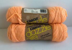 Vtg-USA-Caron-Dazzle-Aire-Yarn-Orange-Ice-2645-Dazzleaire-4ply-3oz-60-40-Nylon
