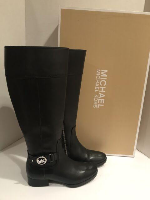 f04e06c99483 Michael Kors Authentic Harland Mocha Leather Tall 5 Medium Women s BOOTS