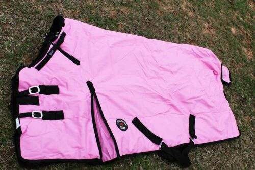 1000D Turnout Horse Heavy Winter Waterproof BLANKET Pink 6138