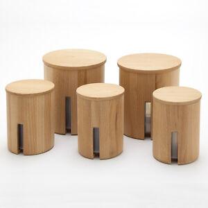 Das Bild Wird Geladen Holzfee Lino Set 5 Vorratsdose 0 6 1