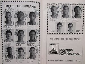 1986 S E Missouri State Men Basketball Program(12 Signed/MALCOMN HENRY/D TURNER)