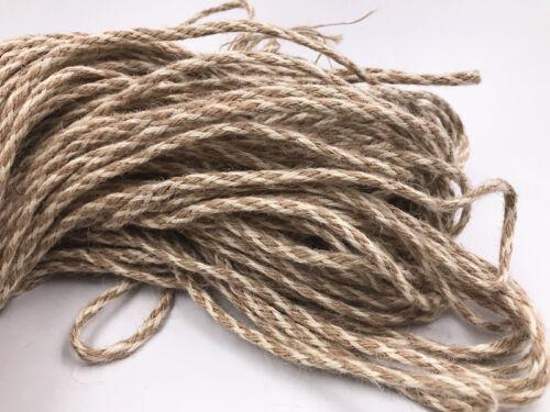 5M natural puro Yute Arpillera Arpillera Rústico Hilo Cable de cinta de cadena de etiqueta