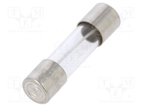 10 st Schmelz träge 63mA 250VAC zylindrisch,aus Glas Sicherung