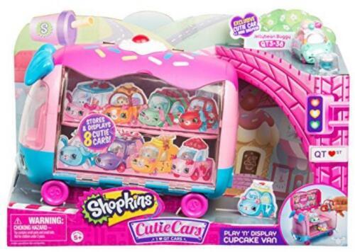 Shopkins Cutie Cars Play /'n/' Display Cupcake Van with Exclusive Car...