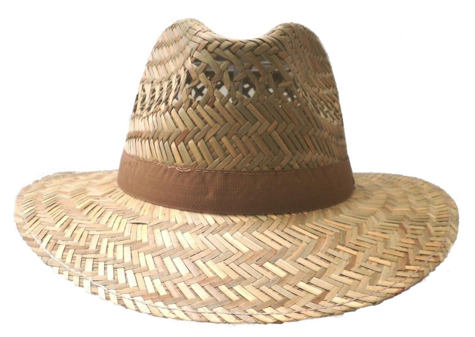 6ee84d14d9b1d Men's Hat Natural Straw to XXL Straight Brim Traveller Vacation Garden  Hiking