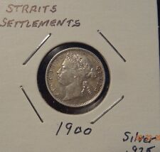 1900 Straits Settlements 10 Cent World Silver Coin - British East India Company