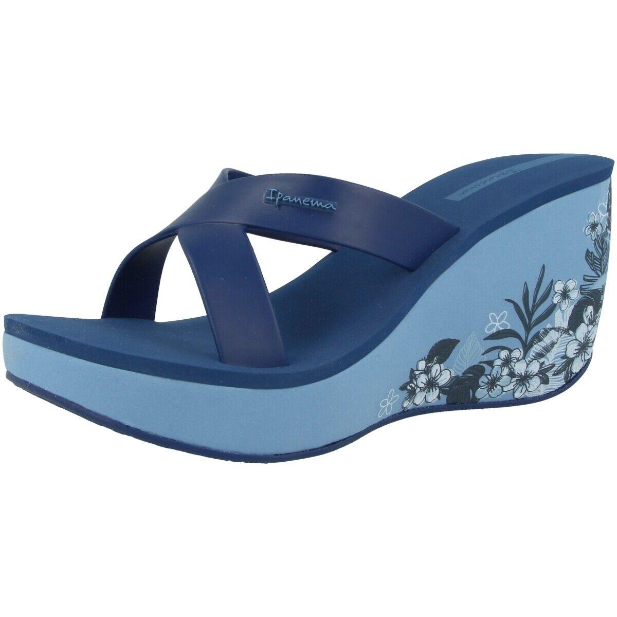 Ipanema Rossetto Strap V Fem women Plateau Zeppa Sandali shoes bluee 82534-8330
