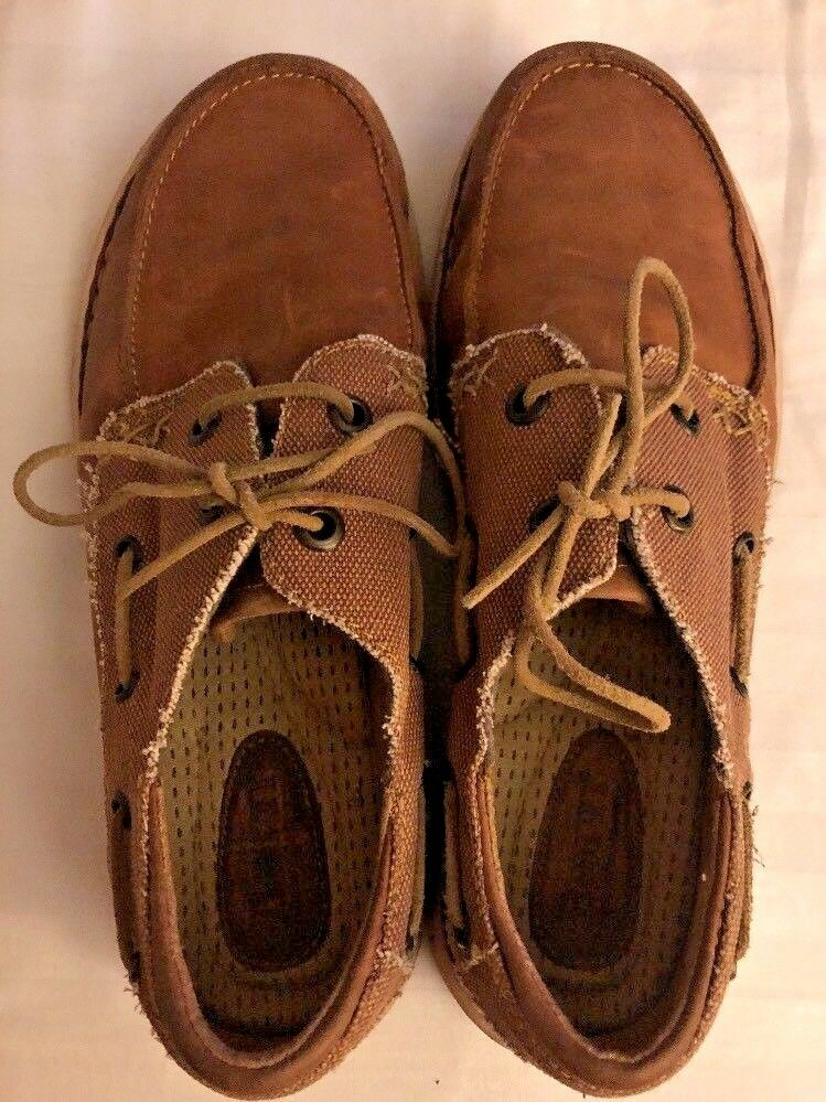 mens shoes BORN BORN BORN Chads Leather & Fabric Loafers Etiope/Sand Combo Sz 11 55f609