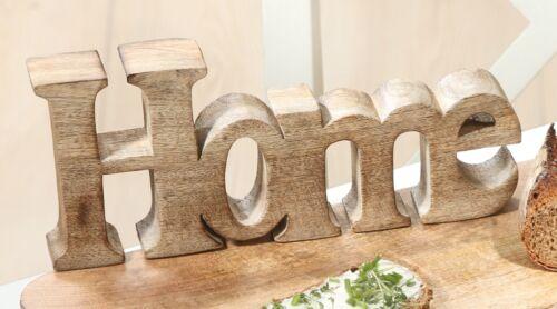 Schriftzug Home Deko Tischdeko Frühling Holz Wohnen Flur Zimmer Tischdeko 41018