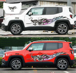 Colorful Vinyl Dragon Car Sticker Auto Hood Decal For Jeep