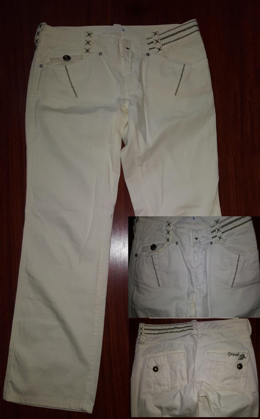 DIESEL damen Weiß Jean Pants Größe 10 Medium Cotton