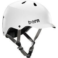 Bern Watts Eps Mens Bike Cycle Skate Helmet Satin White S-m L-xl Xxl-xxxl