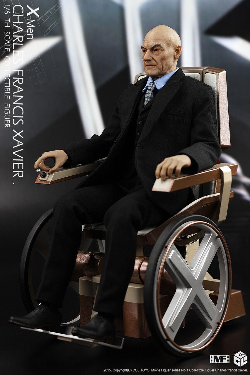 1 6 leucemia granulocítica crónica Juguetes MF01 X-Men Profesor X Charles Francis Xavier con silla de ruedas