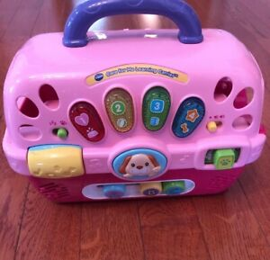 Details about Vtech Pet Carrier. Care For Me Learning Puppy Carrier Toy Lights, Sound, Music!