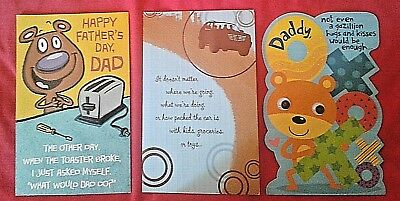 """8.5 X 4 1//4/""""  CUTE  /""""ITS THE LITTLE THINGS YOU DO/""""...FATHER/'S DAY CARD FROM WIFE"""