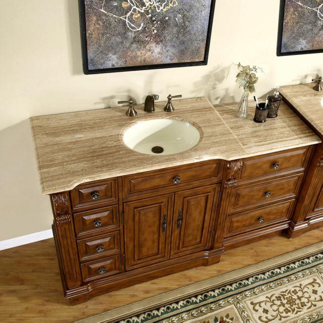 58 Bathroom Vanity Furniture Off Center Right Side Sink Drawer Cabinet 904t R For Sale Online Ebay