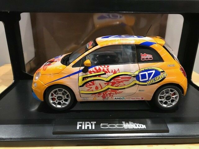 1 18 18 18 Norev Fiat 500 Wroom Schumacher 7 Times World Champion Model 1500 pieces e1da81