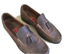 Cole Haan Country Brown Leather Tassel Loafers Slip Ons Shoes 12M