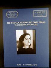 PHOTOGRAPHIES de DORA MAAR PICASSO COCTEAU TANGUY CREVEL BRASSAÏ IZIS Catalogue
