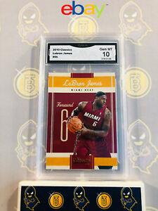 2010-Classics-Lebron-James-95-10-GEM-MT-GMA-Graded-Miami-Heat-Basketball-Card