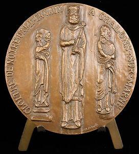 100% Vrai Médaille Plan Du Cloître De Notre-dame-en-vaux Statues Colonne Art Roman Medal
