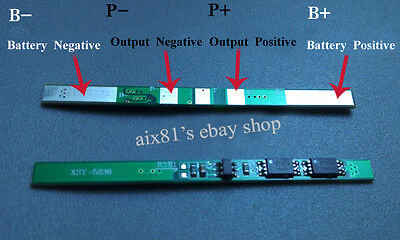 1S 6A 3.7V Polymer Li-ion Lithium 18650 Battery Input Ouput Protection Board PCB