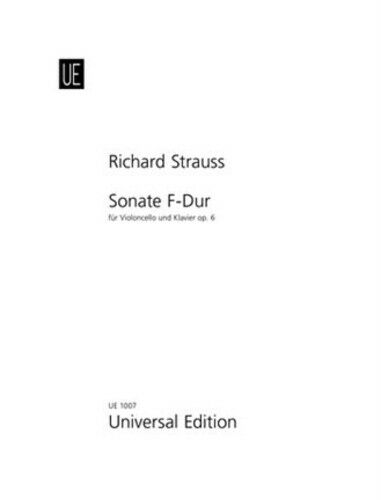 Richard for cello and piano 9790008010200 Sonata Strauss