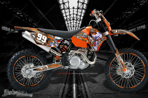 """/""""TICKET TO RIDE/"""" GRAPHICS WRAP DECALS FITS KTM 2008-2011 EXC XCW 250 300 450 525"""