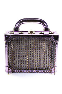 Area-Womens-Ling-Ling-Charm-Satchel-Handbag-Purple-Size-One-Size