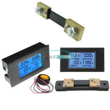 Ac 80 260vdc 65100v 20a 50a 100a Panel Display Volt Amp Power Watt Meter Lcd
