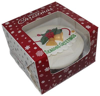"""Attento 6x6x4"""" Scatole Torta Di Natale ** Scegli Quantità **-mostra Il Titolo Originale"""