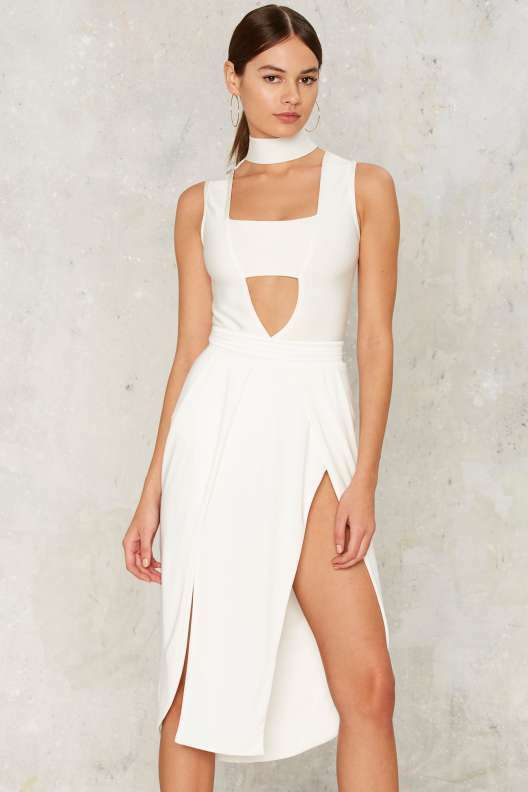 Sold Out Nasty Gal Bossa Positano Bodysuit Weiß