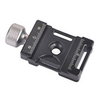 Andoer® Aluminum Quick Release Plate Clamp Compatible with Arca Swiss for 38mm Q