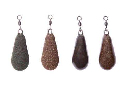 Distance Carp Fishing Leads weights Dark Muddy Camo Brown Silt Weed 2oz 3oz x5