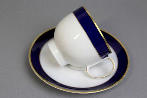 Heinrich echt Kobalt  Rondo Kaffeetasse 2tlg blau gold !!!!!!!! !!!!!!!!!