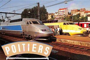 CP-86000-Poitiers-Tren-Tgv-Estacion-Bautizo-Tren-348-Tgv-Atlantico-Tgv-Postal
